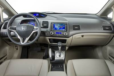 Used Honda Civic interior (2009)