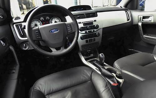 2009 Ford Focus SE interior as shown