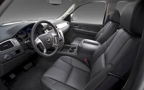 2009 Chevy Tahoe LTZ interior as shown
