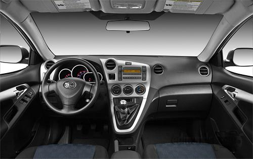 2010 Toyota Matrix interior. Interior: The 2010 Matrix's cabin is as stylish