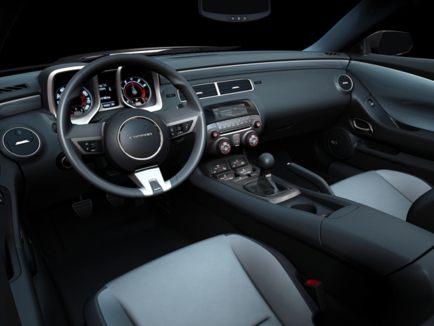 Interior: The 2011 Camaro's cabin is an attractive mix of retro design