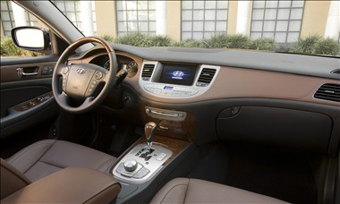 2011 Hyundai Genesis interior as shown