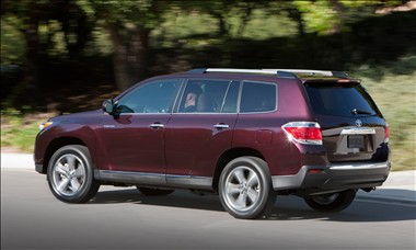 2012 Toyota Highlander rear view