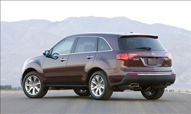 2011 Acura MDX rear view