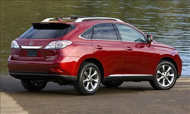 2011 Lexus RX 350 rear view