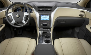 2011 Chevy Traverse interior